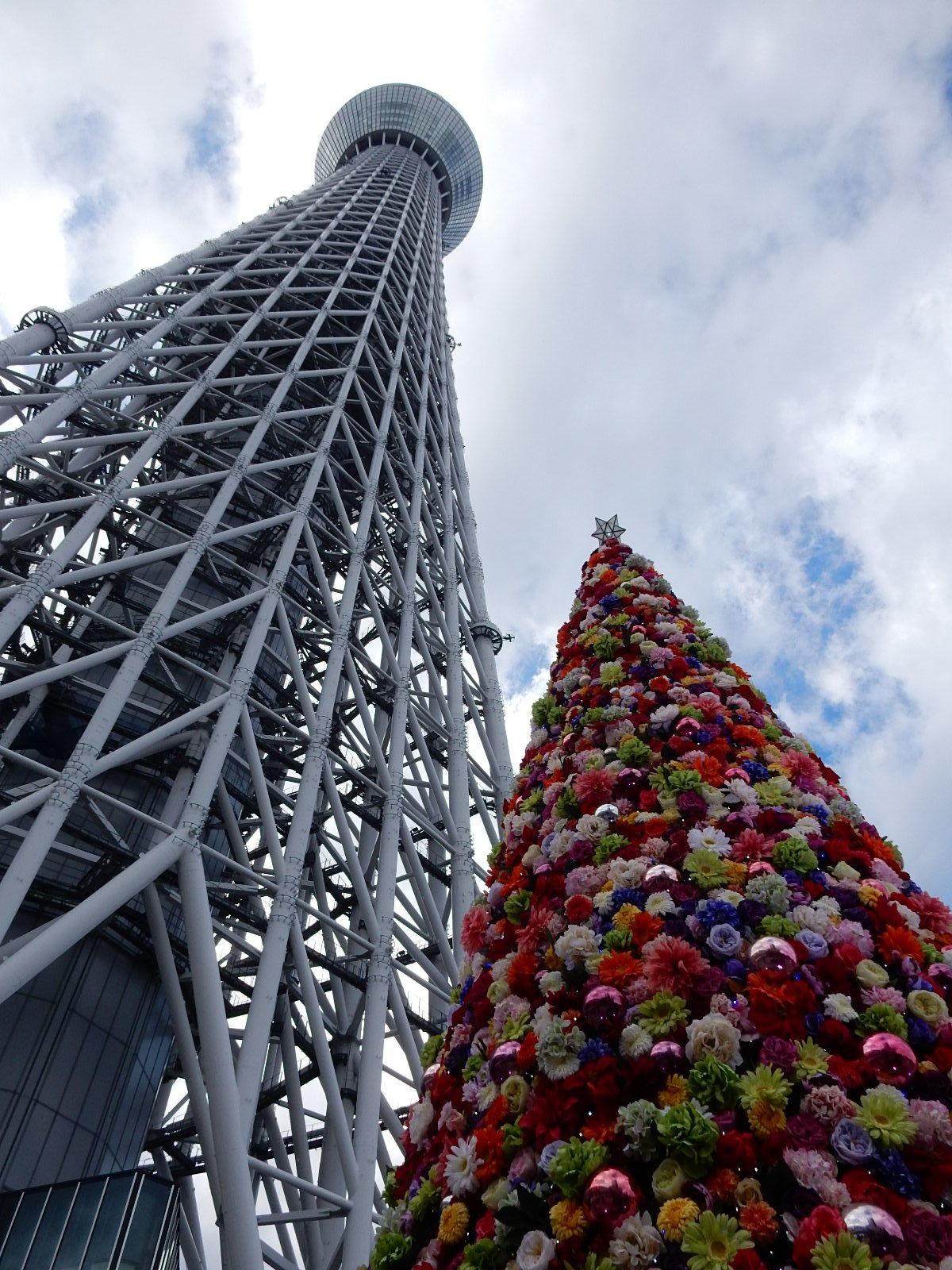 東京スカイツリーとフラワーツリー2