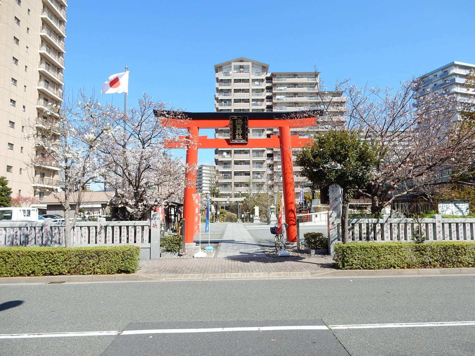 浅間神社と桜