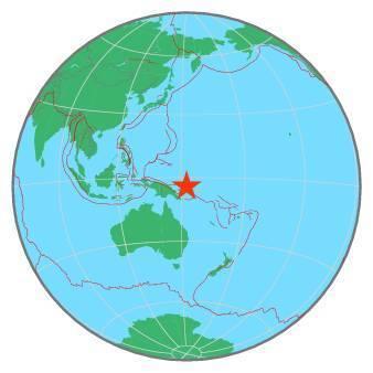 Earthquake - Magnitude 7.5 - NEW BRITAIN REGION, P.N.G. - 2019 May 14, 12:58:25 UTC
