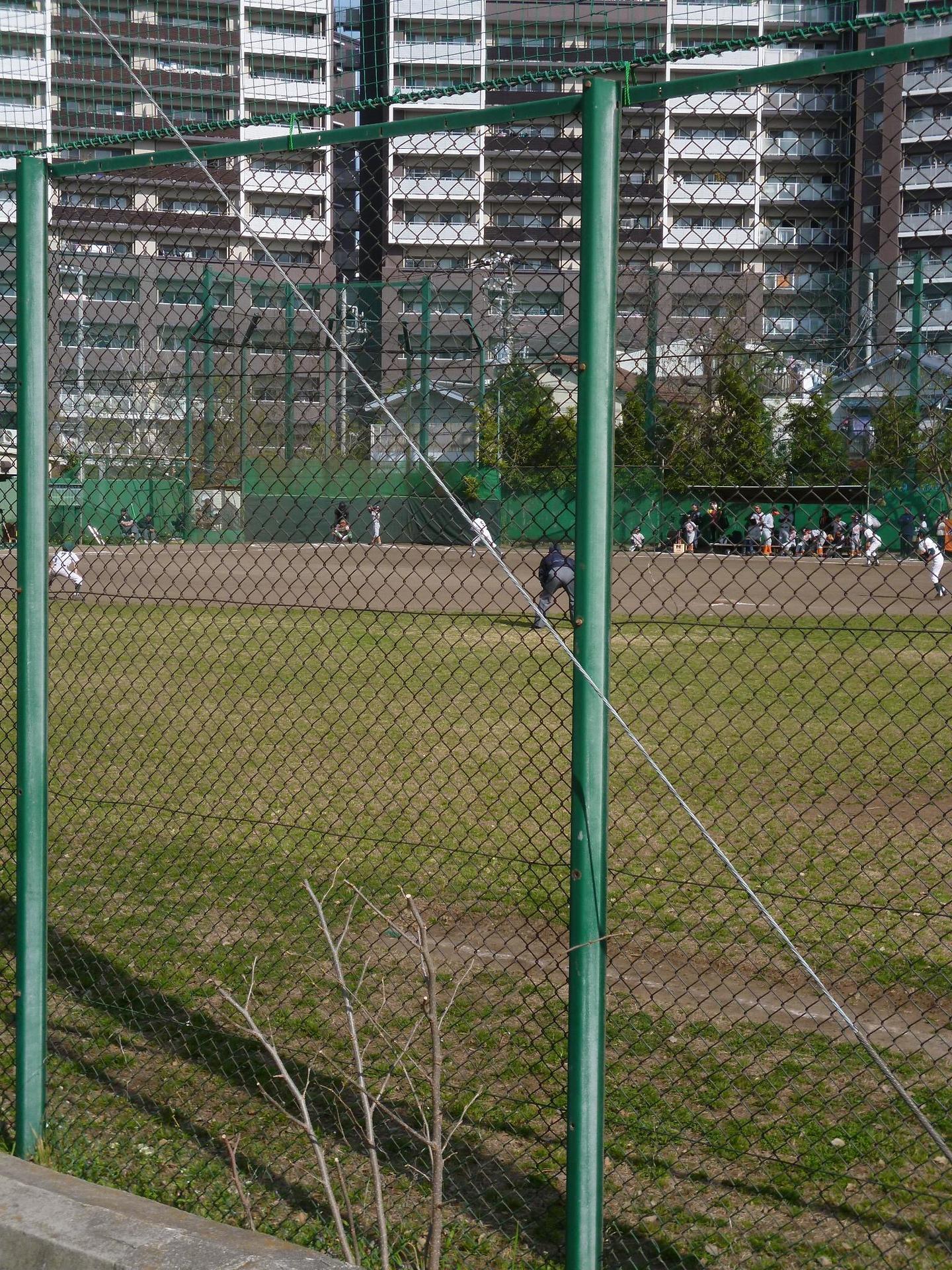 石井グラウンドでの野球風景