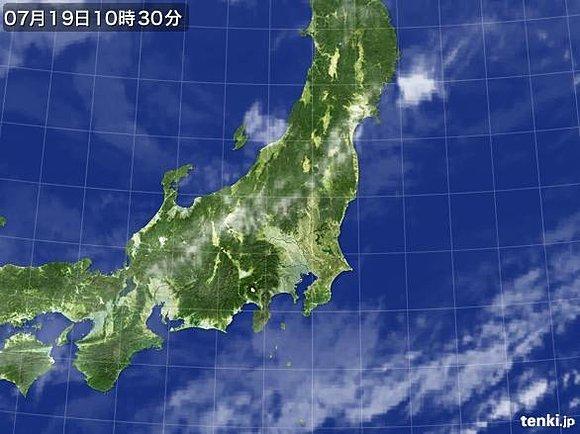 関東甲信地方で梅雨明け