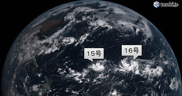 15日午前11時 ひまわり8号からの衛星画像