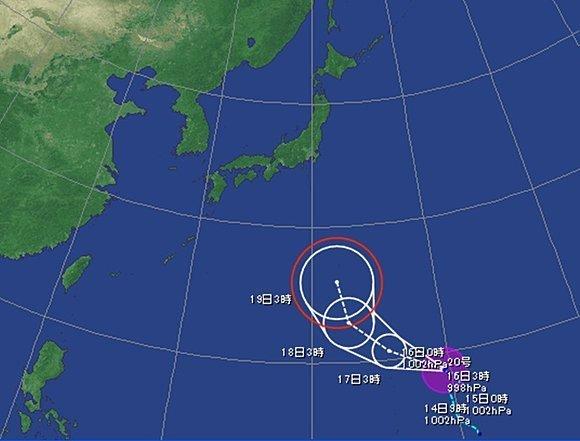 台風二十号「クロヴァン」発生