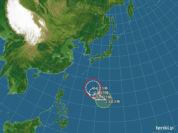 台風21号「ドゥージェン」発生