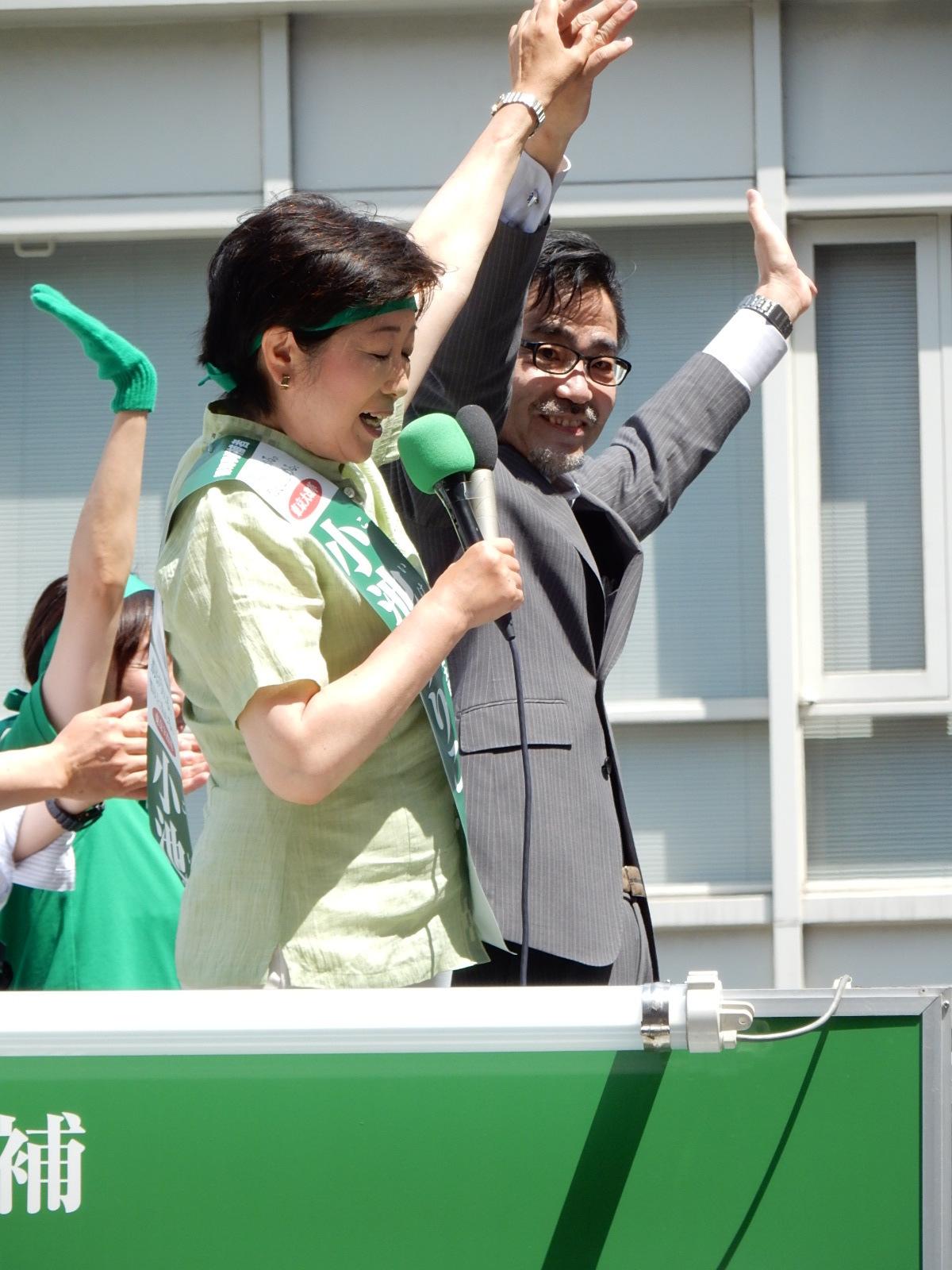 小池百合子氏と若狭勝代議士