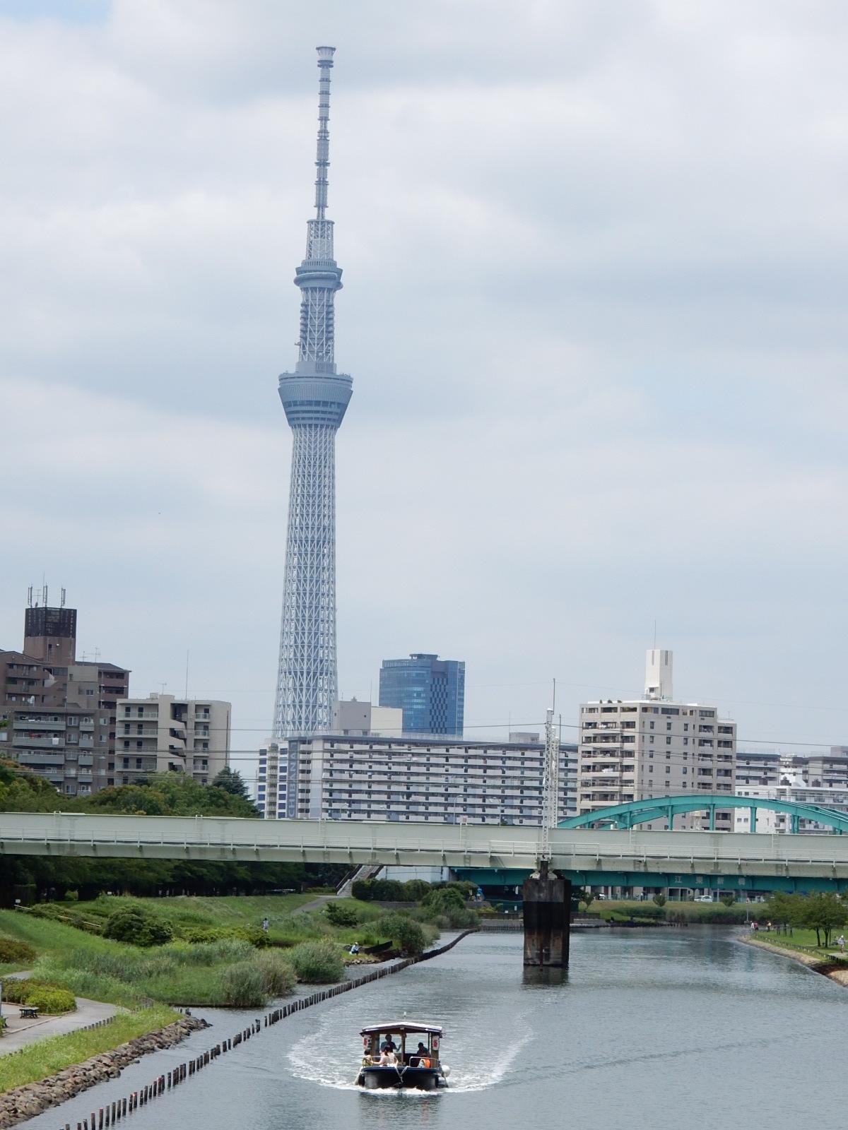 東京スカイツリーと屋形船