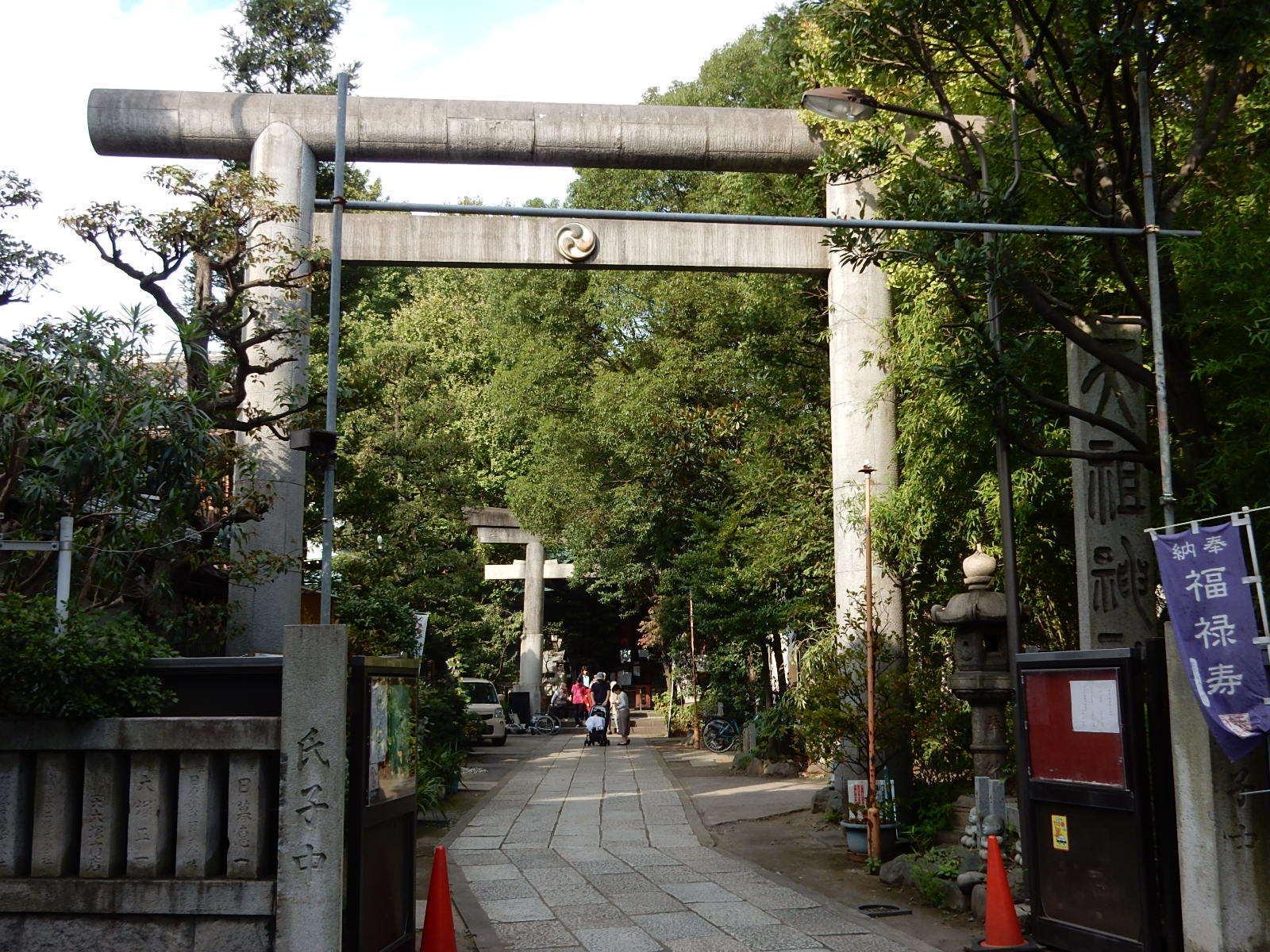 天祖神社の外側の鳥居