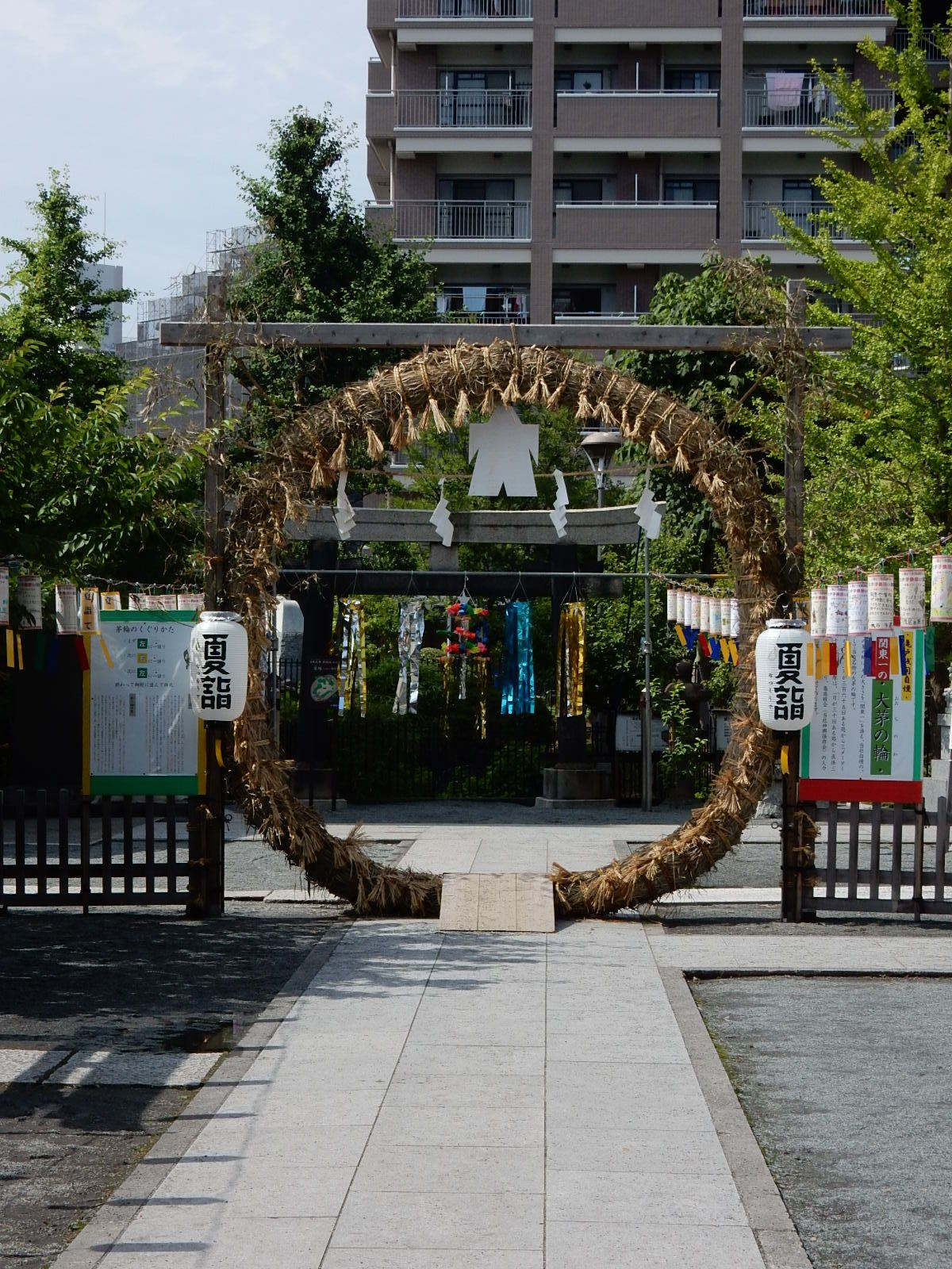 浅間神社の茅の輪